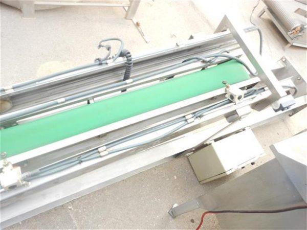 3 cinta transportadora de lona en acero inox de pie. alto3.30m a13cm.
