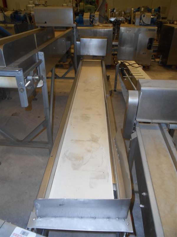 3 cinta transportadora de lona en acero inox. l3.17m a31cm.