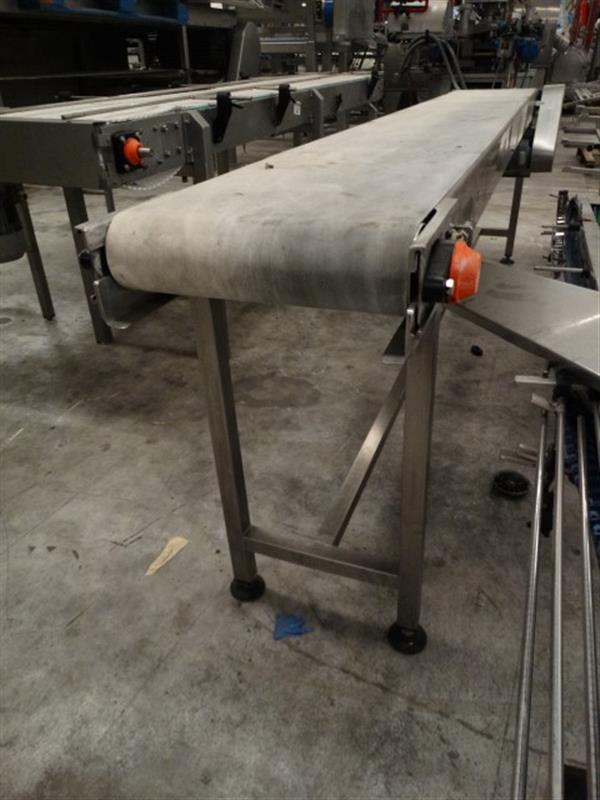3 cinta transportadora de lona inox l 3 m a 0.40 m