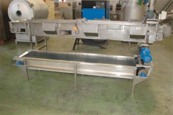 3 cinta transportadora de lona l 2.83 m a 50 cm