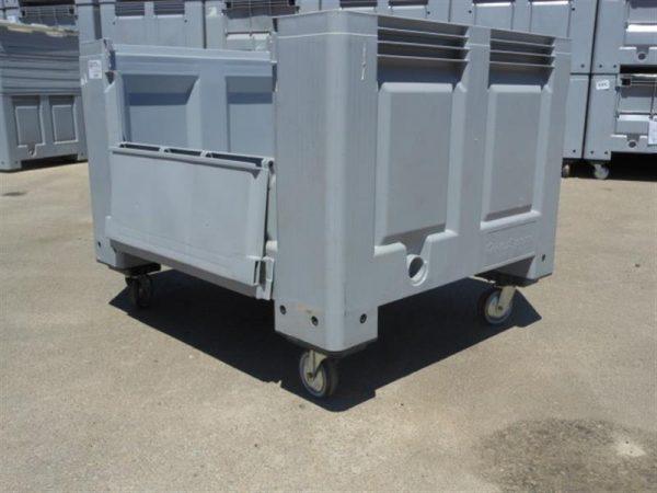3 palot box con ruedas y puerta lateral