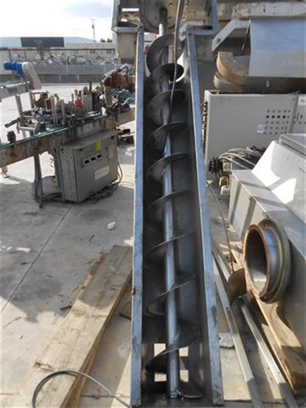 3 sinfin elevador en acero inox. l 2.10 m