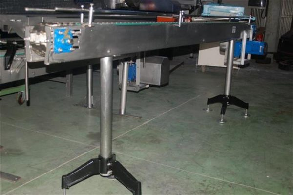3 transportador de charnela en acero inox de 8 cm l 3 m