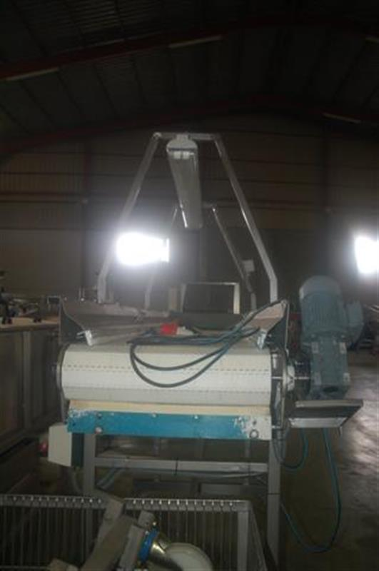 4 cinta transportadora de banda modular en acero inox l 3.30 m