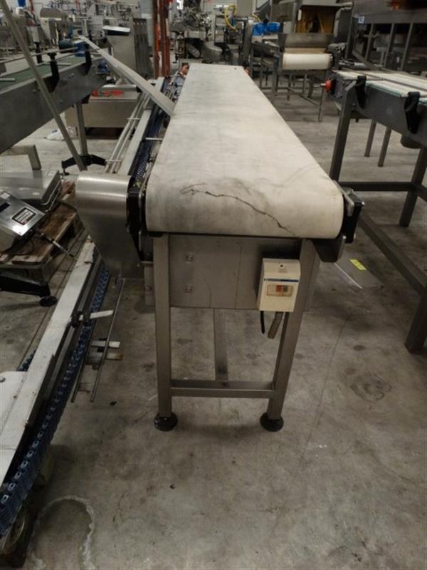 4 cinta transportadora de lona inox l 3 m a 0.40 m