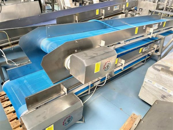 4 cinta transportadora de malla perforada turatti inox l 4 m a 60 cm