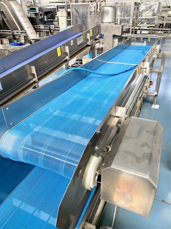 4 cinta transportadora de malla perforada turatti inox l 4.50 m a 60 cm