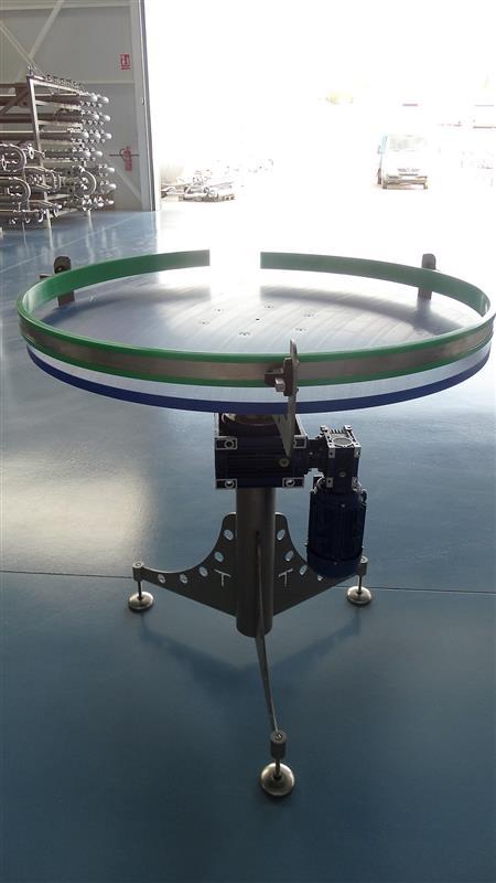 4 disco alimentador de pvc inox. diametro 1 m