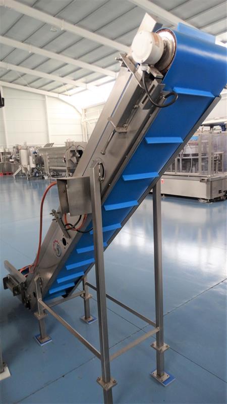4 elevador de palas de lona gelgoog inox. descarga 2 m a 33 cm