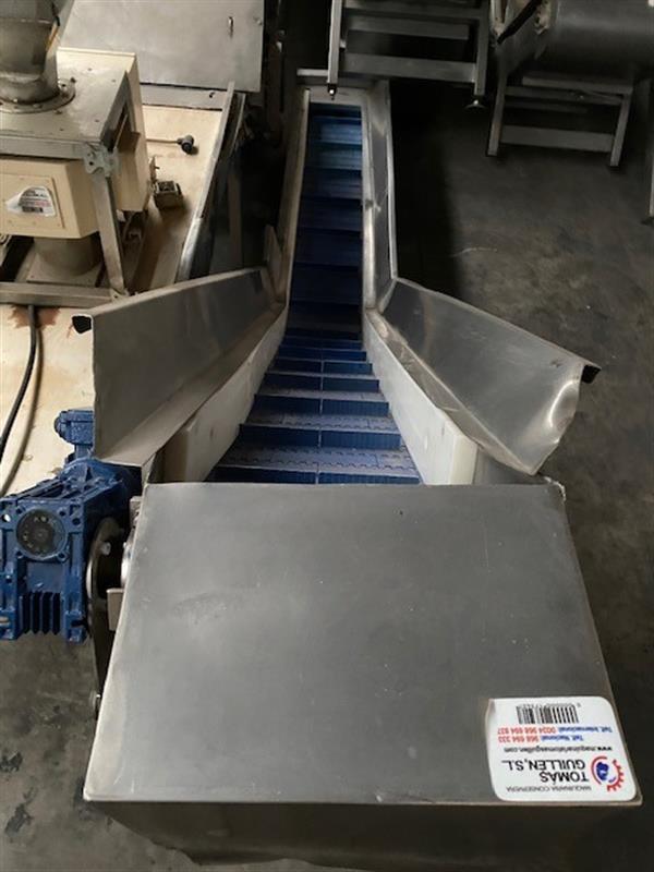 4 elevador de palas modular inox. descarga 1.10 m a 30 cm