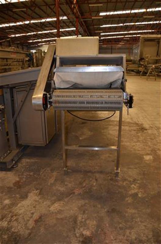 4 escaldador lineal por vapor directo inox. l 6.23m