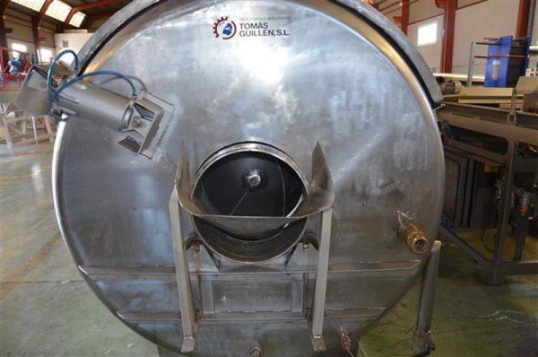 4 escaldador rotativo en acero