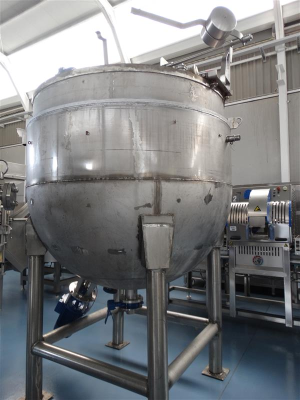 4 marmita perol mixer vertical de doble fondo con agitador cts 2.500 l