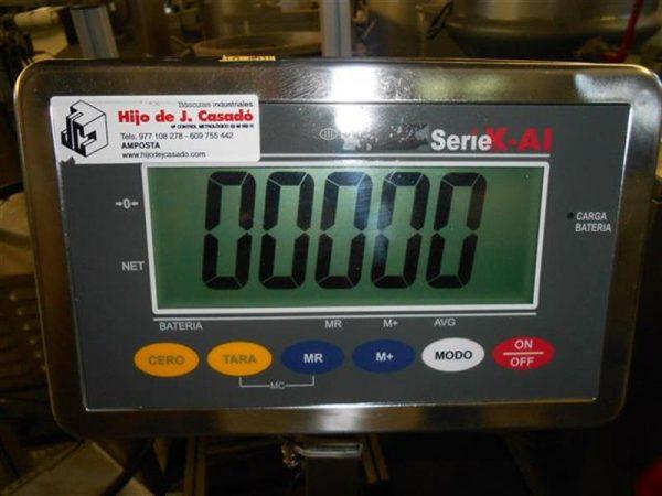 5 bascula de pesaje en acero inox de 350 kg.