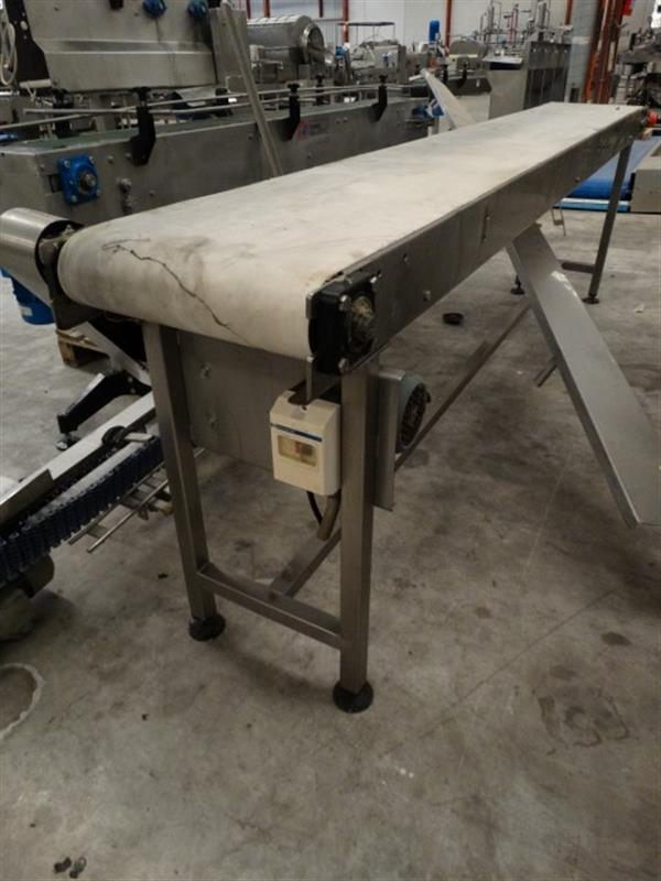 5 cinta transportadora de lona inox l 3 m a 0.40 m