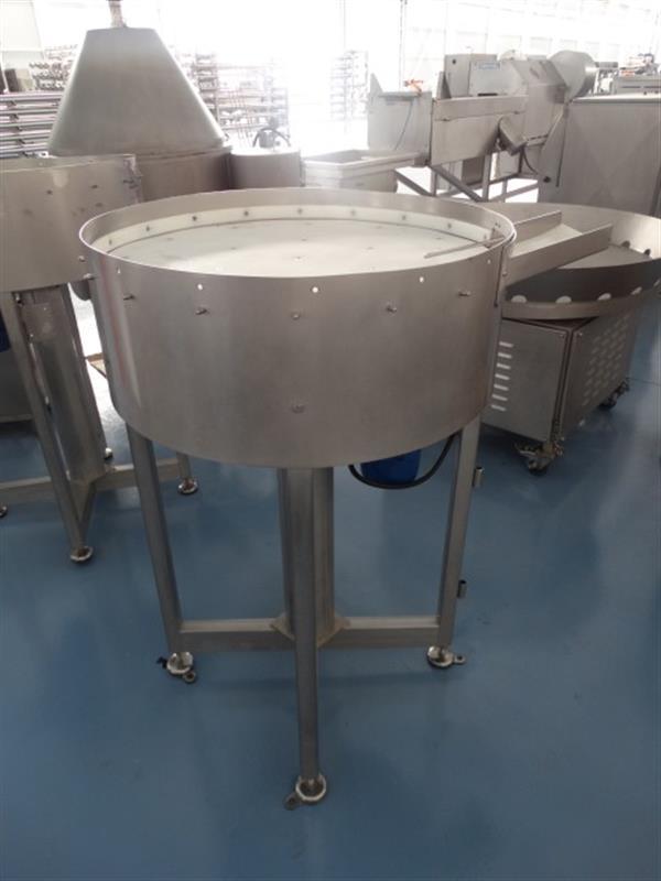 5 disco alimentador de plastico apm en acero inox. diametro 75 cm