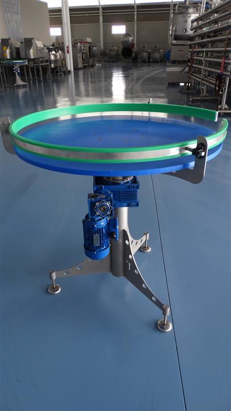 5 disco alimentador de pvc inox. diametro 1 m