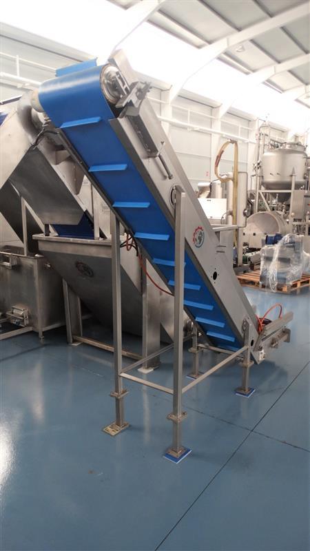 5 elevador de palas de lona gelgoog inox. descarga 2 m a 33 cm