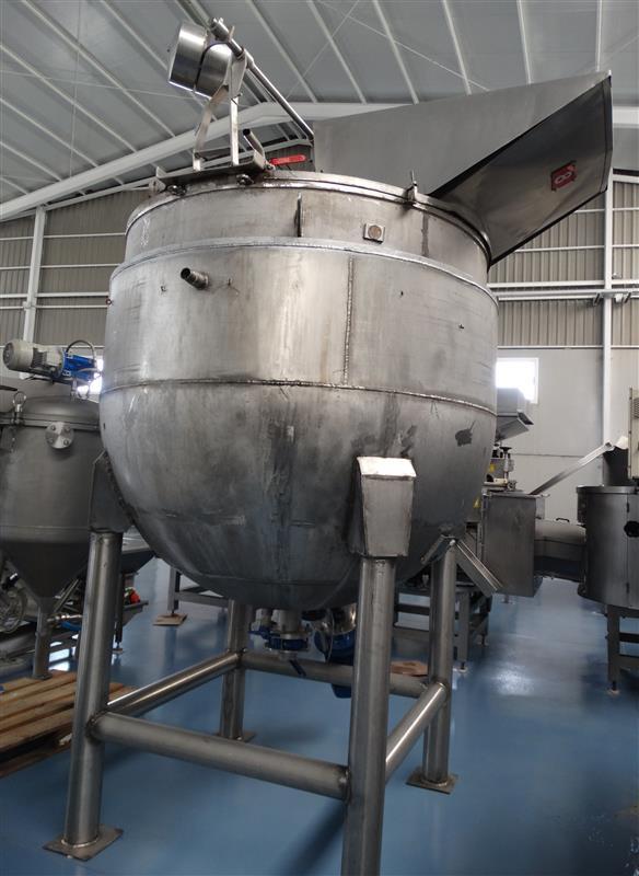 5 marmita perol mixer vertical de doble fondo con agitador cts 2.500 l