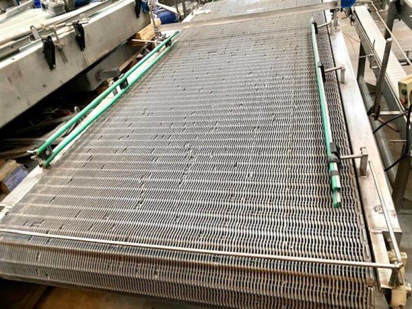 5 mesa de acumulacion de paletizado con banda modular. l 3.50 m a 1.45 m