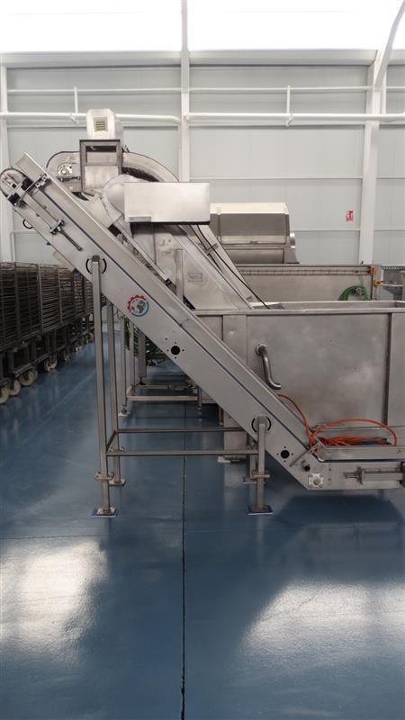 6 elevador de palas de lona gelgoog inox. descarga 2 m a 33 cm