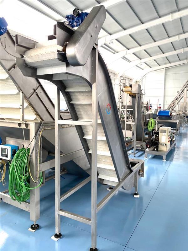 6 elevador de palas modular inox. descarga 2.05 m