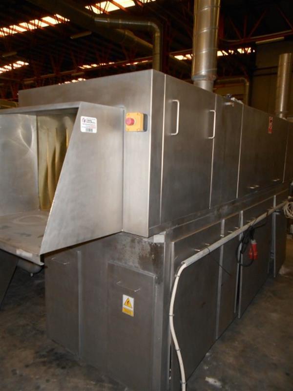 6 lavadora lineal para cajas en acero