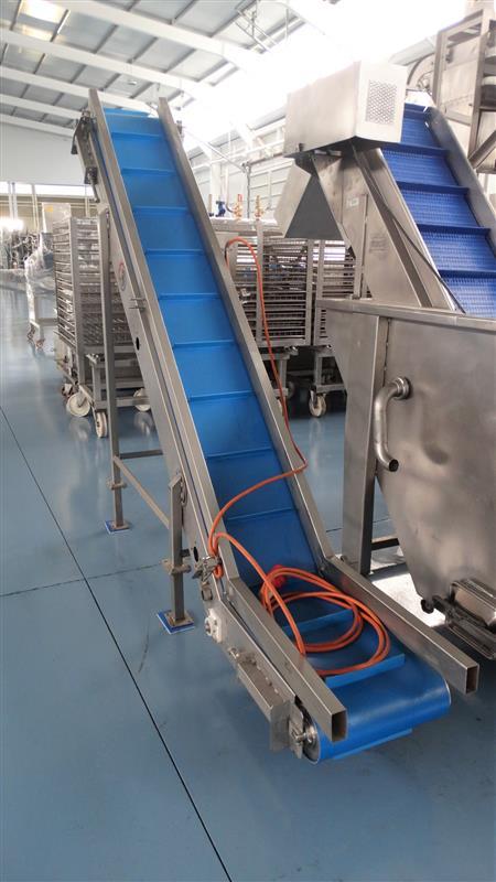 7 elevador de palas de lona gelgoog inox. descarga 2 m a 33 cm