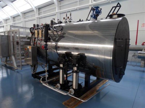8 caldera de vapor 1.500 kg vaporh mingazzini con quemador diesel