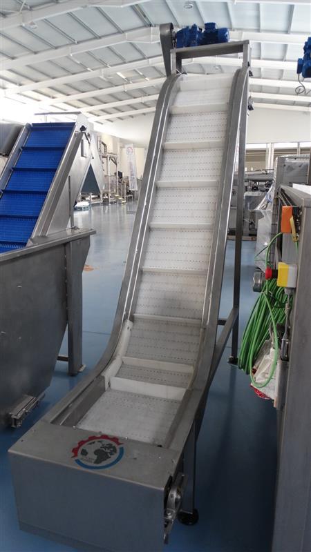 8 elevador de palas modular inox. descarga 2.05 m